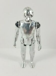 Vintage-Star-Wars-Death-Star-Droid-Complete-Action-Figure-1978-Hong-Kong-Silver