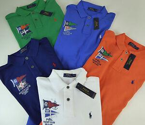 Polo Ralph Lauren SS Nautical Flag Yacht Club Cotton Mesh Polo Shirt ... 78005d95a5