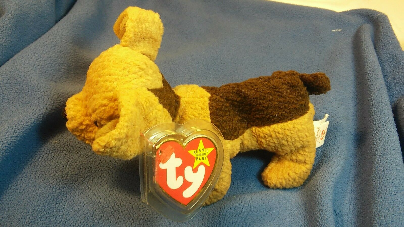 Very Rare Retired ty Beanie Baby  Tuffy  with multiple tag errors and extra tu