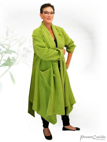 PoCo LAGENLOOK Fleece Jacke Mantel schwarz ua L-XL-XXL-XXXL 46 48 50 52 54 56 58