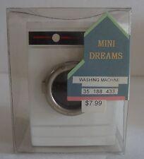 NOS Mini Dreams Dollhouse Miniature Wood White Washing Machine Furniture Vintage