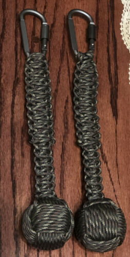 "Paracord Monkey Fist Heaving End 2"" Steel Ball  Core CAMO SERIOUSLY BIG!"