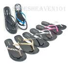 Women Thong  Flip Flop Solid T-Strap Flat Sandal Summer Shoes