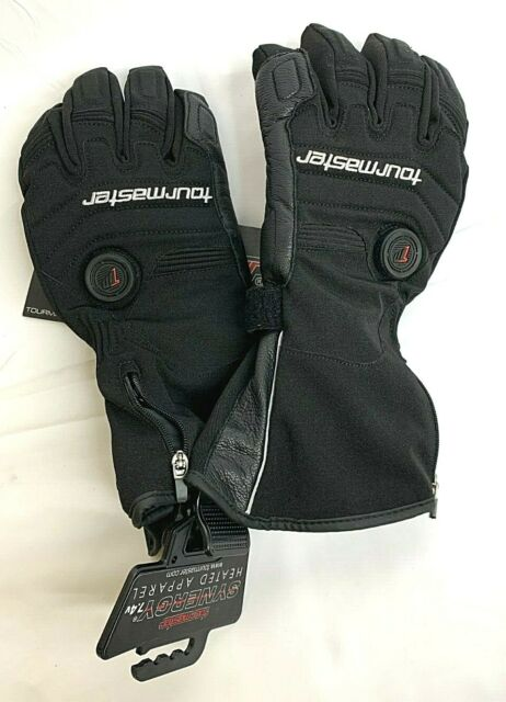 Tour Master Mens Synergy 7.4V Battery Heated Leather Motorcycle Gloves Size