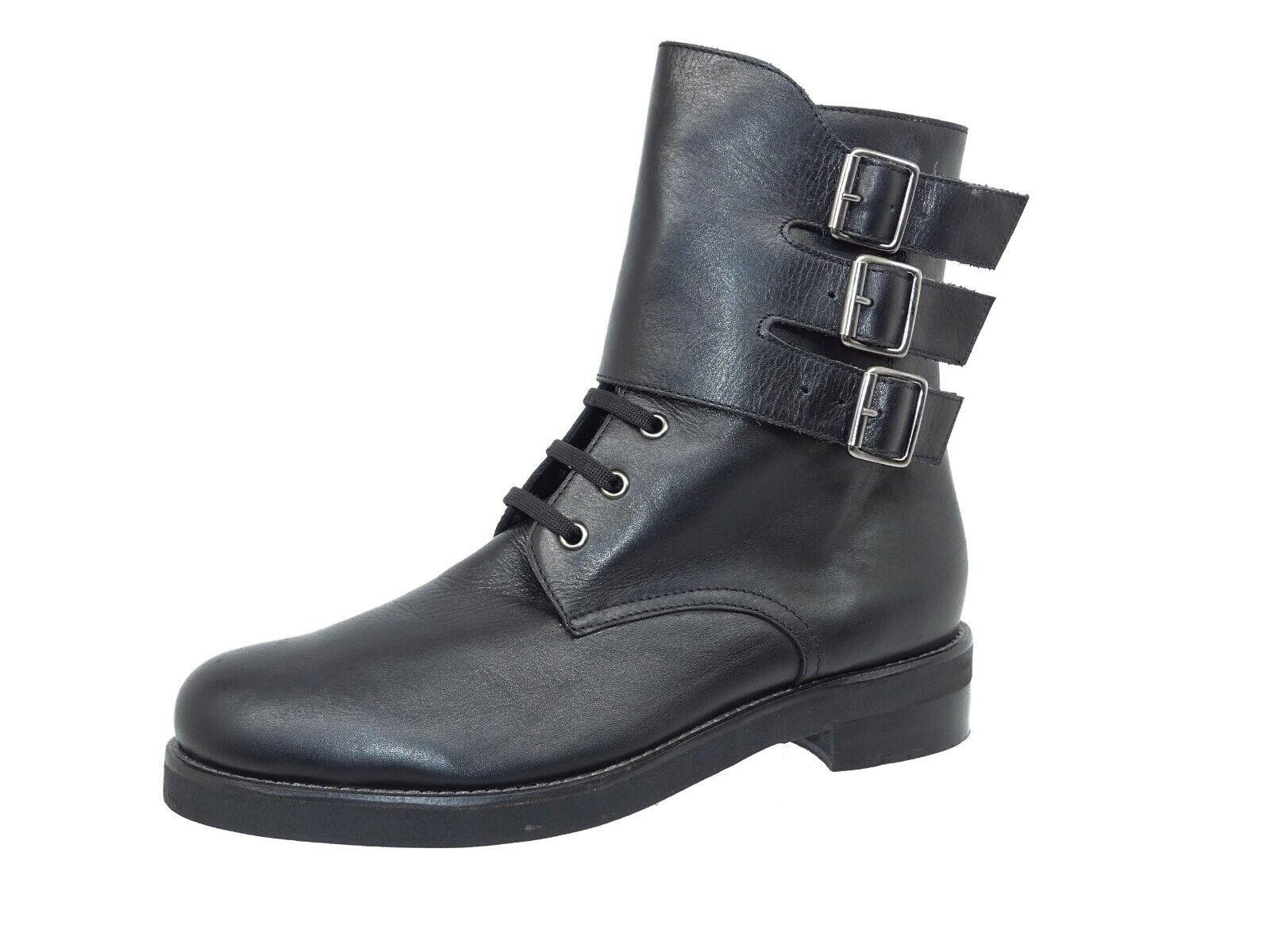 Versace 1969 Damen Schuhe Stiefel Stiefel Stiefeletten Used Look Gr 41 Echtleder