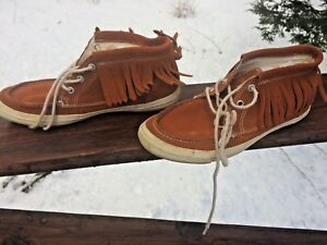 0b405fd767b6 Converse All Star Women s 6.5 Brown Suede Fringe Moccasin High Top ...