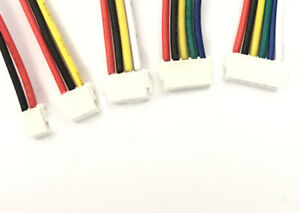 JST-ZH-1-5mm-2-3-4-5-6-Pin-Male-Receptacle-15cm-wire-RC-Toy-Battery-Hobby-x-10