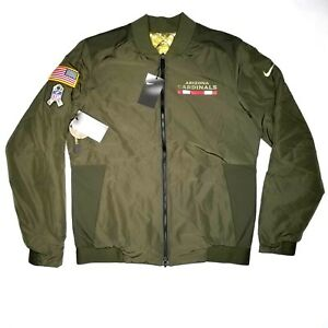 7290853ca Arizona Cardinals Nike Bomber Jacket Size M Mens Salute To Service ...