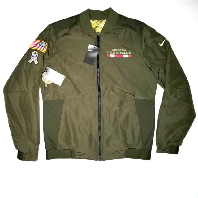 b06a05df70c Frequently bought together. Arizona Cardinals Nike Salute To Service Bomber  Jacket Size M Mens Reversible