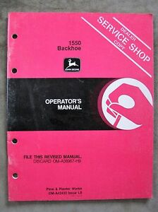 John deere 850 950 1050 farm tractor workshop manual.