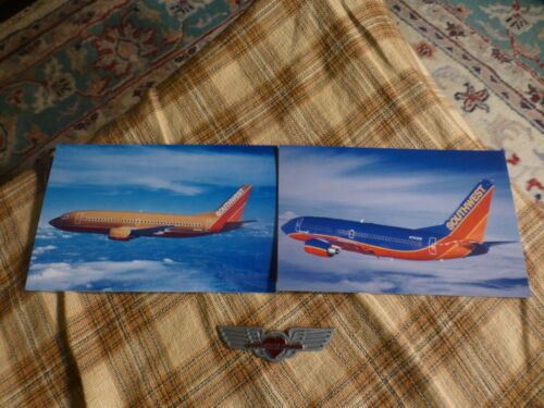 Vintage SOUTHWEST AIRLINES 2 Postcards Blank /& GUEST WINGS Collectors Lot VG !