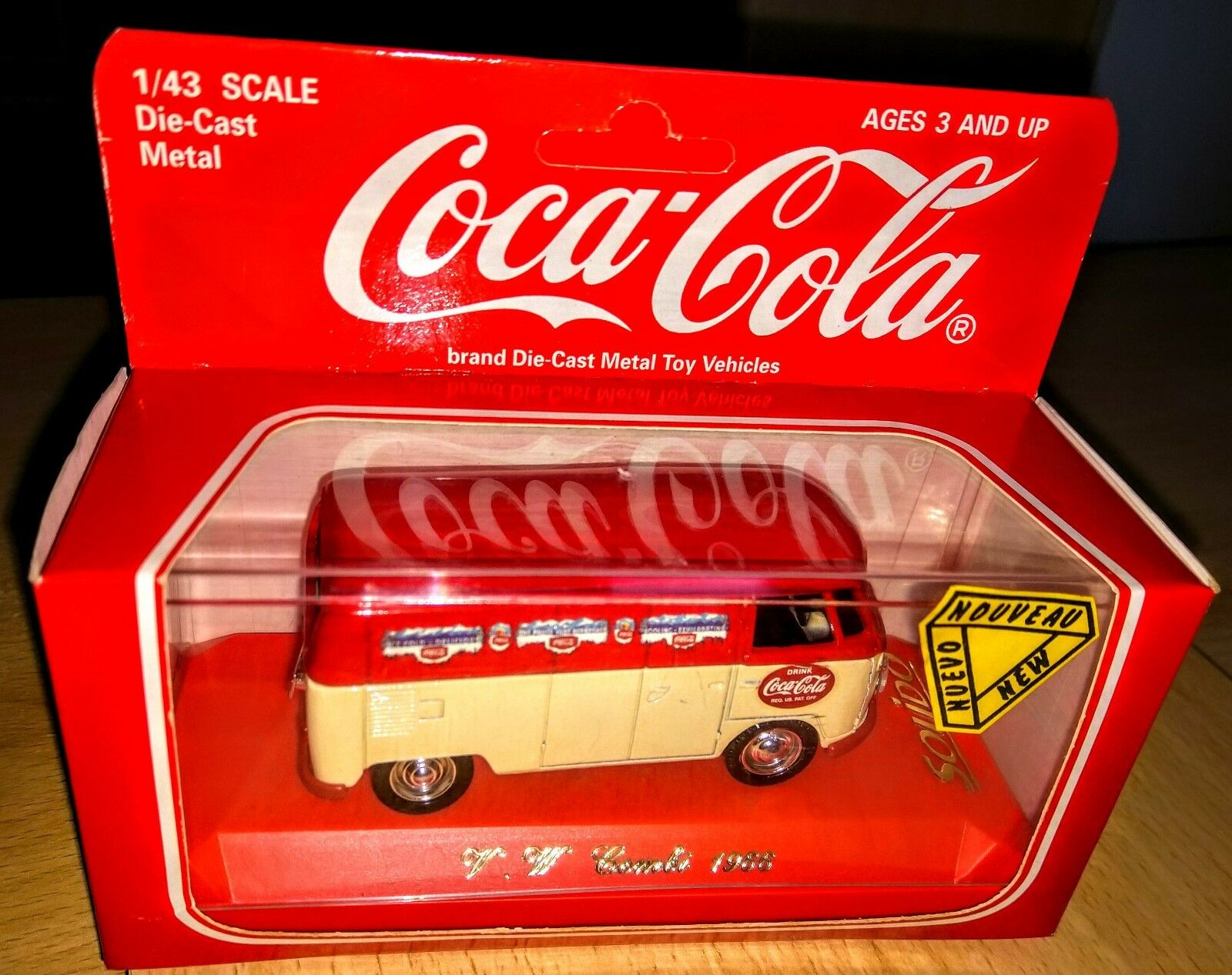 Coca Cola VW Combi Mint Boxed Unopened French Solidio 1 43