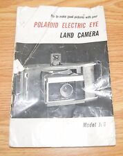 How to make good pictures with your Polaroid Electric Eye Land Camera - Manual