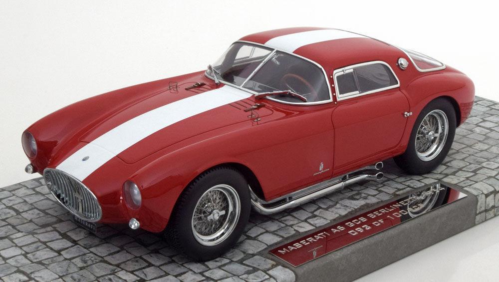 Minichamps 1954 Maserati A6GCS Berlinetta Rosso Bianco Righe 1 18 New Articolo