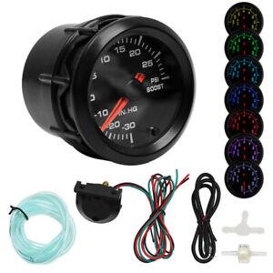 Compteur-jauge-suralimentation-Turbo-voiture-7-couleurs-LED-52mm-0-30-psi-G