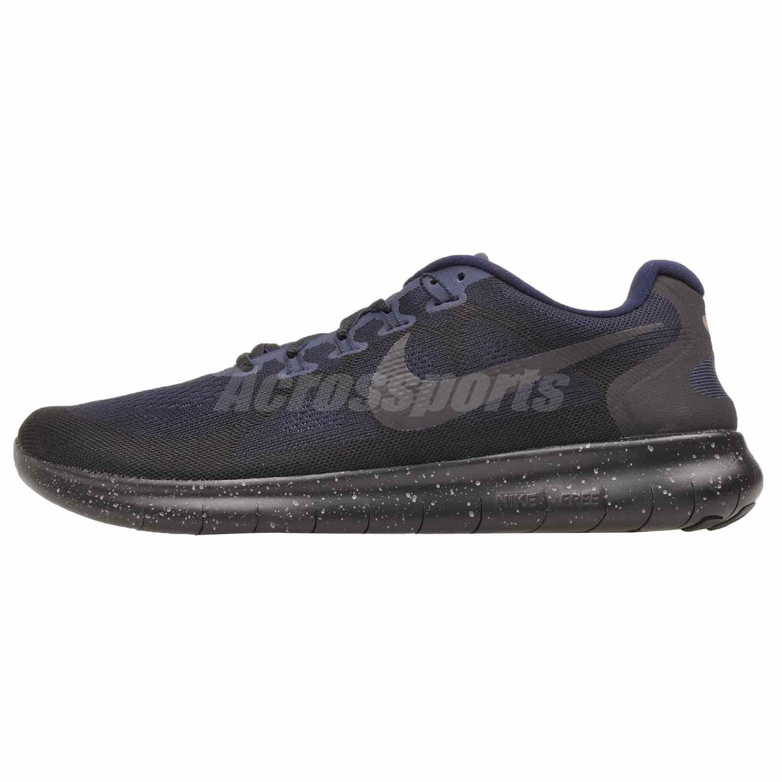 Nike Free RN 2017 Shield Running Mens shoes NWOB Black AA3760-001
