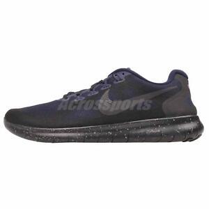 Industrieux Nike Free Rn 2017 Shield Running Homme Chaussures Neuf Sans Boîte Noir Aa3760-001-afficher Le Titre D'origine