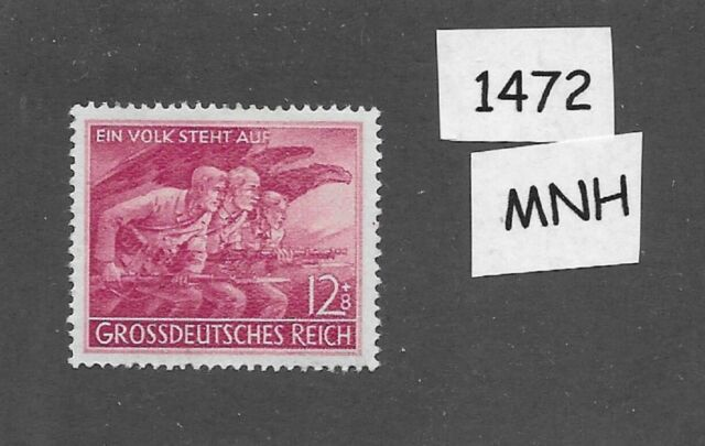 MNH stamp  / 1945 WWII Issue /  Volkssturm  /  Peoples Army WWII / Berlin 1945