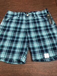 LEE-Women-039-s-Mid-Rise-Regular-Fit-Chino-Walk-Short-Size-6m-Plaid