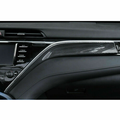 For Toyota Camry 2018-2020 Carbon Fiber Style Interior Dashboard Decorative Trim