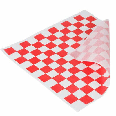 12x12 Waxed Sheet RED Checkered Brown Paper Goods 7B4-R Basket Liner or Sandwich Wrap 1000 Sheets Per Box