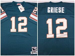 Bob Griese Miami Dolphins NFL Football Mitchell Ness 1967 Throwback ... 8de451d14