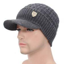 item 4 Men Warm Winter Hat Knit Visor Beanie Fleece Lined Billed Beanie  with Brim Cap -Men Warm Winter Hat Knit Visor Beanie Fleece Lined Billed  Beanie with ... 90c3a6730151