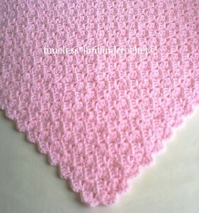 CROCHET PATTERN FOR BABY BABIES CROCHET SHAWL / BLANKET in 4 PLY ...
