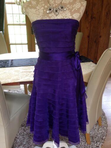 Designer Occasion Nuovo Coast Party 10 Bernice Purple Silk Cadburys Dress Cocktail wn6gx4Baq