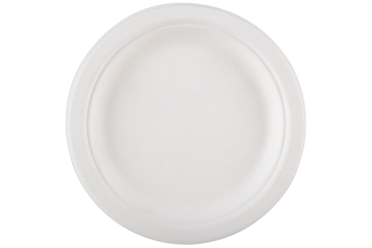 1000 Round 6  Strong Weiß Paper Plate Biodegradable Bagasse Disposable Starter