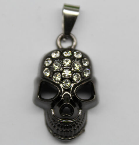 Free shipping small skull face alloy charms pendants 30*18*9mm