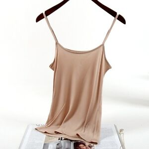 Women-Silk-Camisole-Tank-Top-Vest-Sleeveless-Basic-T-shirt-Comfy-Solid-Thin-Soft