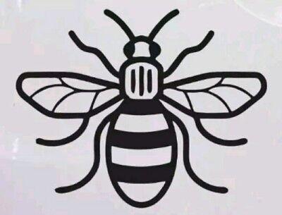 Manchester Bee Honey Comb Chrome silver bumper sticker car van window decal