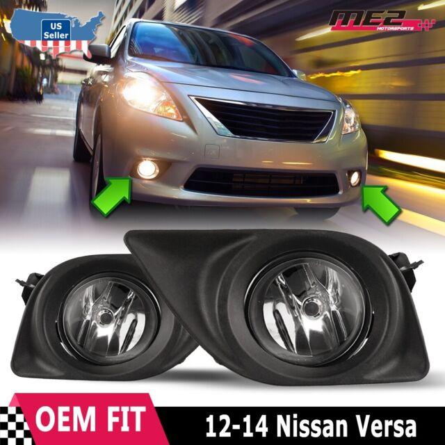 Fog Light Kit For 12-14 Nissan Versa Wire Harness Switch Bezel Left Right Set
