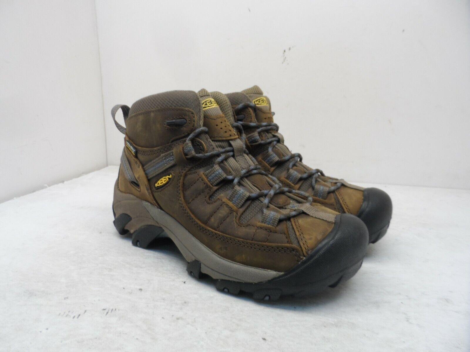 Keen Women's Targhee II WP Mid Hiking Trail Boots Slate Black/Flint Stone 6M