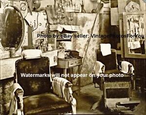 Vintage-Old-Antique-1936-Atlanta-Georgia-Barber-Shop-Chair-Haircut-Photo-Picture