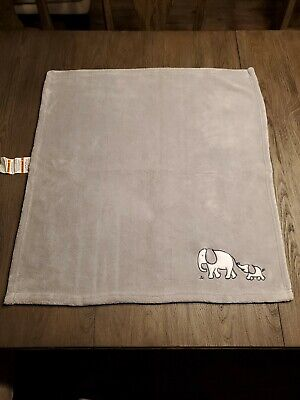 CIRCO TWO BY TWO BABY BLANKET 2 ELEPHANT GRAY GREY WHITE PLUSH FLEECE BABY
