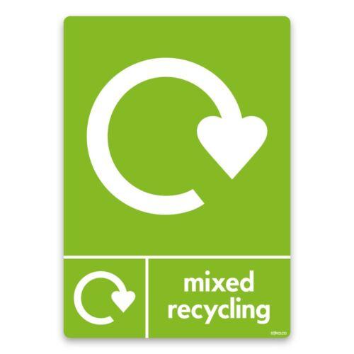 Premium mixte Recyclage Papier Recycler maintenant des signes Vinyle Autocollant//plastique rigide