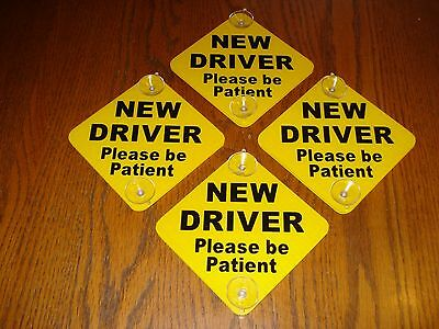 Disabled Driver Please Allow Me Extra Time Car Sign Suction Cup Disability Sign