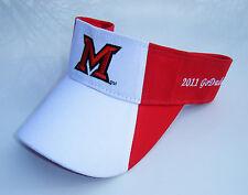 MIAMI REDHAWKS Football 2010 MAC & 2011 Go Daddy.com Bowl Champs Golf Visor Hat