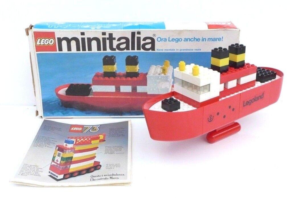 Lego minitalia scatola n.31 anno 1973 nave barca modellino raro rarissimo