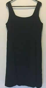 Country-Road-Womens-Black-Sleeveless-Lined-Dress-with-Back-Zipper-AU10-US8