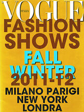 VOGUE Italia FASHION SHOWS Fall Winter/2011-12 Milan Paris New York London VGC