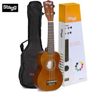 New Stagg Us Nat Chameleon Series Soprano Size Ukulele With Gig Bag Nautral 882030206306 Ebay