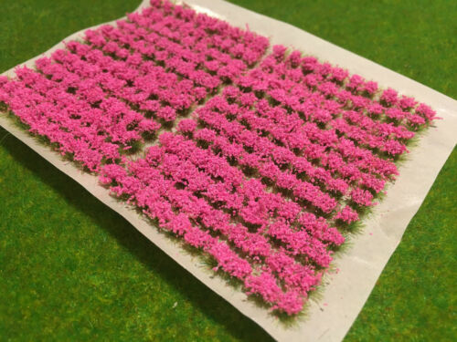 Scenery Model Railway Wargame Static Grass Self Adhesive 240 Small Flower Tufts