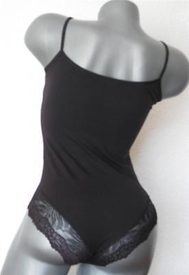 Sexy COTTON Lace Bikini White/Black Thin Straps BodySuit Camisole Stretch Top