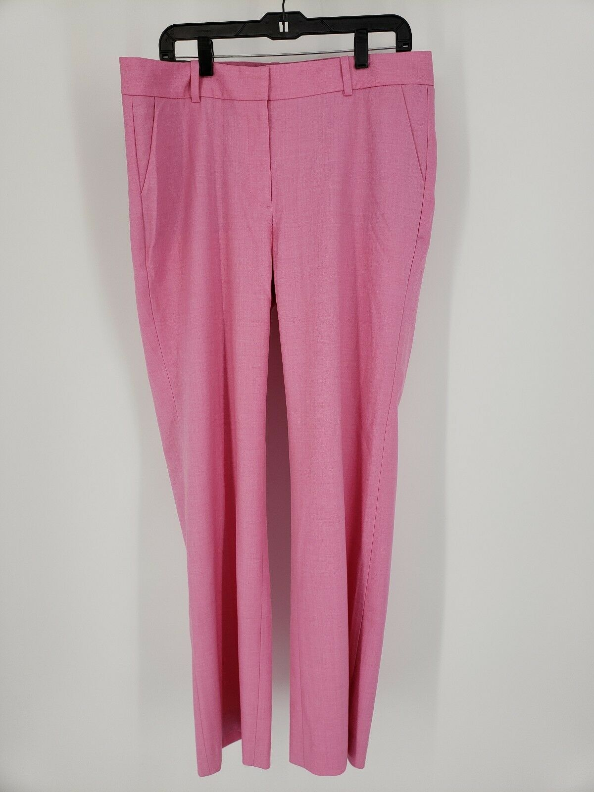 New J. Crew Stretch Dress Trouser Pants Pink Size 14 Wool Blend Style F7698