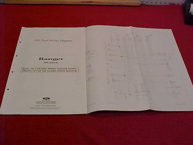 1993 Ranger Original Electrical Wiring Diagram Schematics