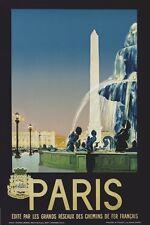 PARIS - VINTAGE TRAVEL POSTER 24x36 - EIFFEL TOWER FRANCE 36058