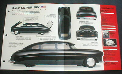 1949 HUDSON SUPER SIX CUSTOM SEDAN IMP BROCHURE '49